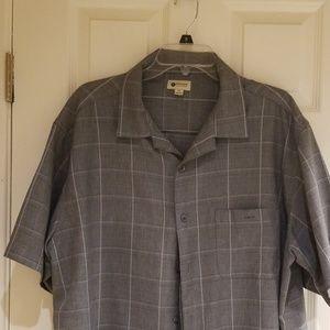 Men's Haggar short sleeved dress shirt